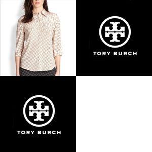 [Tory Burch] Brigitte Polka Dot Shirt - Size 4
